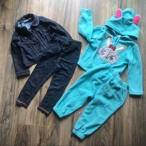 Other - Jean jacket w/ jean leggings & matching bunny set
